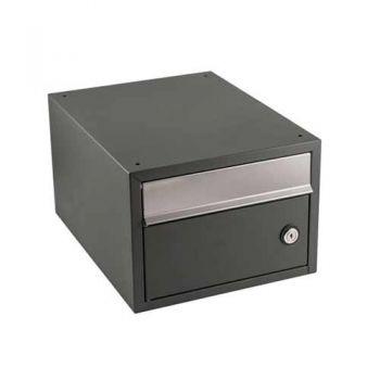 Stapelbare brievenbus Allux Brick antraciet