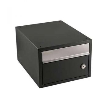 Stapelbare brievenbus Allux Brick zwart
